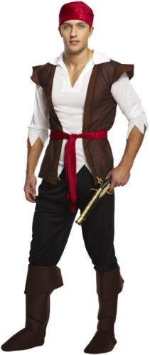 PIRATE COSTUME MENS LADIES CARIBBEAN BUCCANEER WOMENS FANCY PARTY DRESS OUTFIT by Henbrandt