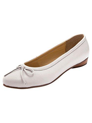 Pediconfort - Ballerines Plates Classiques, Largeur Confort - Femme - Taille : 35 - Couleur : Blanc