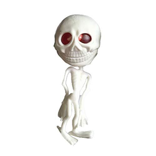 (BESTOYARD Gummi Anti-Stress Spielzeug Vent Alien Wasserball Spielzeug Dekompression Werkzeug Druck Reliver Halloween Party Requisiten (weiß))