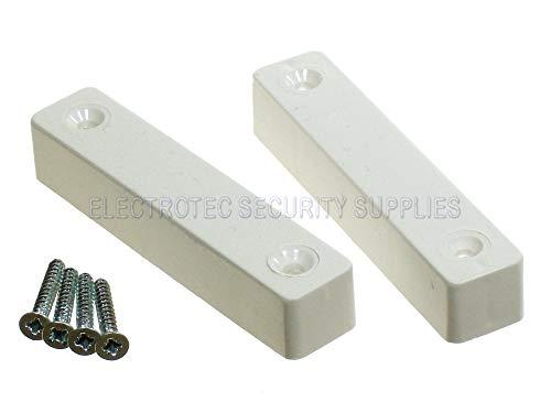 1x Alarma Antirrobo Blanco Superficie Puerta contactos–5Terminal Magnético Reed Interruptor Tipo, Calidad...