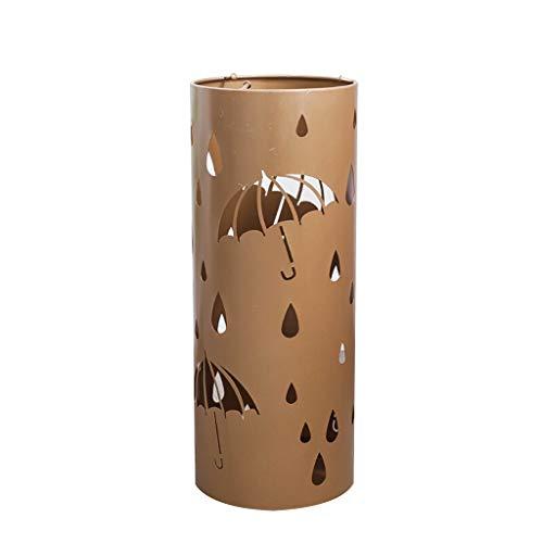 Umbrella stand Metall Regenschirm Ständer Regenschirm Halter Home Office Decor mit Tropfschale und Haken Gold 20 * 20 * 50 cm - Größe Kind Spazierstock,