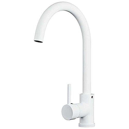 Design orientabile moderno cucina lavello miscelatore monocomando rubinetto bianco sanlingo