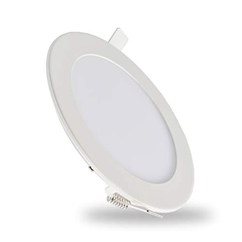 Yaione LED Downlight Runde Embedded Bad Restaurant Clubhaus Hotel Cafe Panel Light Wasserdichte Sicherheit Verkabelung Aluminium Sicherheit Einfache Nennspannung Garage Bohrloch Größe: 70-75mm Lampe -