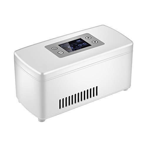 NMDD Scatola refrigerata per insulina, Scatola refrigerata, Frigorifero Portatile per farmaci, Frigorifero a Doppia Uso per Mini-Auto (Bianco, Blu, Verde)