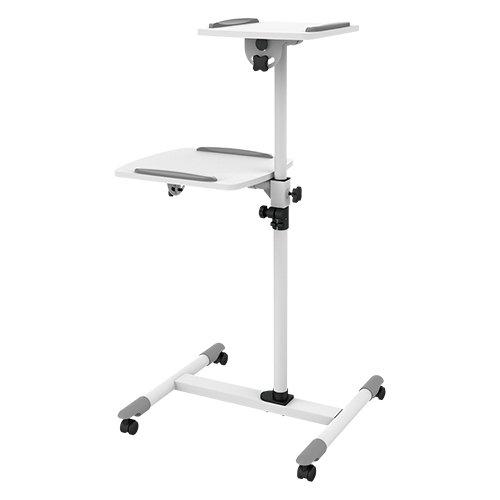 ZIPP Presentation Cart Projector & Laptop Height Adjustable Trolley Mobile...