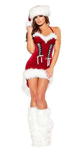 IYOUGOU Donna Di Babbo Natale Costume Smoking Abito Rosso - Abito Di Natale