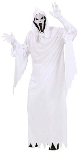 Widmann 02681 - Erwachsenenkostüm Gespenst, Tunika, Maske mit Kapuze, Größe S