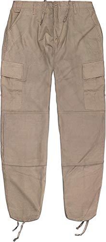 normani Rip Stop Rangerhose mit 2 Cargo Beintaschen und verstärktem Knie und Gesäß Farbe Khaki Größe XXL