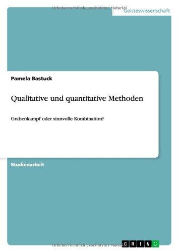 Qualitative und quantitative Methoden: Grabenkampf gebraucht kaufen  Wird an jeden Ort in Deutschland