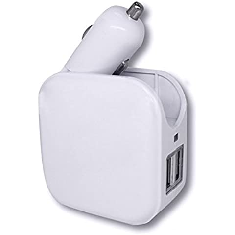 ToxTech Travel Charger Adapter, 2 in 1 caricatore universale per
