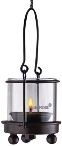 Borosil Hanging Diya Lights (Small, Set of 2)