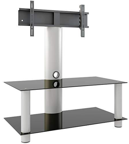 VCM TV Rack Lowboard Konsole Fernsehtisch Möbel Glastisch Tisch Mobil Rollen Schrank Bank aluminium Glas