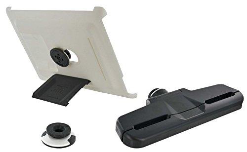 XFlat UP300 - 4in1 iPad Wandhalterungs-, Standfuß- und Kopfstützensystem für iPad2, iPad3 (New iPad) und iPad4 (iPad Retina), Standfuß in 4 Positionen nutzbar für 25° oder 60° vertikal und 25° oder 60
