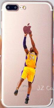 Art Design Hülle für iPhone 7 / iPhone 8 Kobe Bryant Lakers 24 Basketball NBA Soft Silikon
