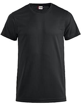 Herren Funktions T-Shirt aus Polyester von CLIQUE. Das T-Shirt für den Sport, perforiert und feuchtigkeitsabführend...