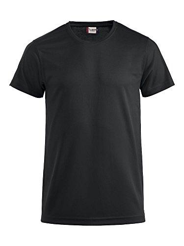Herren Funktions T-Shirt aus Polyester von CLIQUE. Das T-Shirt für den Sport, perforiert und feuchtigkeitsabführend in Schwarz, Grösse L -