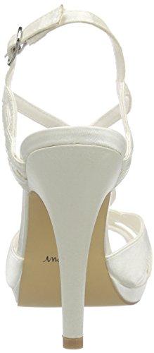Menbur Wedding Amparo Damen T-Spangen Sandalen Elfenbein (Ivory)