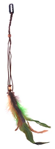 Homeoculture New Fashion Lady Feather Hair Clip hair pin fascinator Costume Accessory wig Feather Hair extension  available at amazon for Rs.175