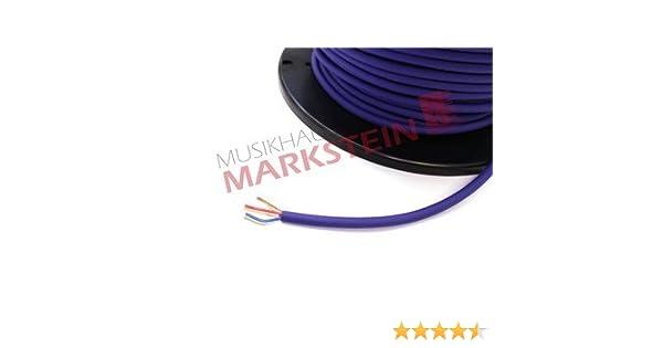 Mikrofonkabel  Meterware  NF-Kabel  Bühnentauglich trittfest  blau