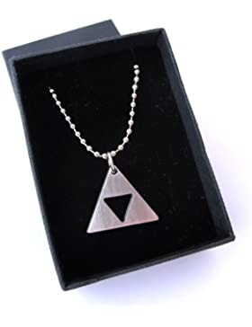 Zelda Triforce Matte Necklace - Stainless Steel - Handmade