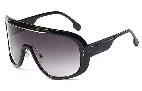 CQYYDD Vintage Oversized Sonnenbrillen Uv400Sommer Herren Sonnenbrillen für Damen Leopard Black Windproof Goggles wie in Foto Farbverlauf schwarz