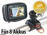 NavGear Powerbank Tasche: Allwetter-Schutztasche & Powerbank für 3,5