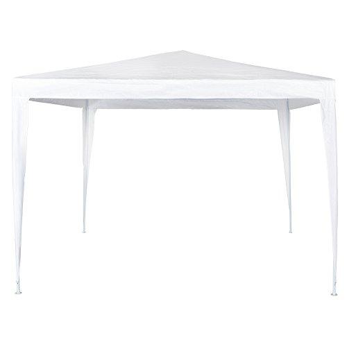 Aktive Garden Cenador de Plástico, Blanco, 300 x 300 x 250 cm