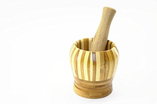 RMB® Caipirinha-Stößel Knoblauchpresse Bambus Mörser aus Holz edles Design