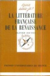 Litterature Franc.de la Renaissance par O. Soutet