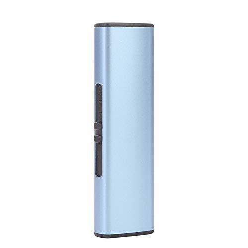 OPSRVRGZD USB Elektronische Feuerzeug Wiederaufladbare Zigarettenanzünder Winddicht Plasma Arc Feuerzeug Rauchen Gadgets Für Mann Kein Gas, Plain Blau