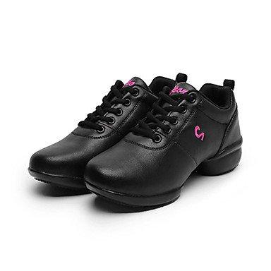 Danza in pelle scarpe di cuoio delle scarpe da tennis latino / moderna prassi tacco grosso delle donne, Nero, US4-4.5 / EU34 / UK2-2.5 / CN33 Ruby