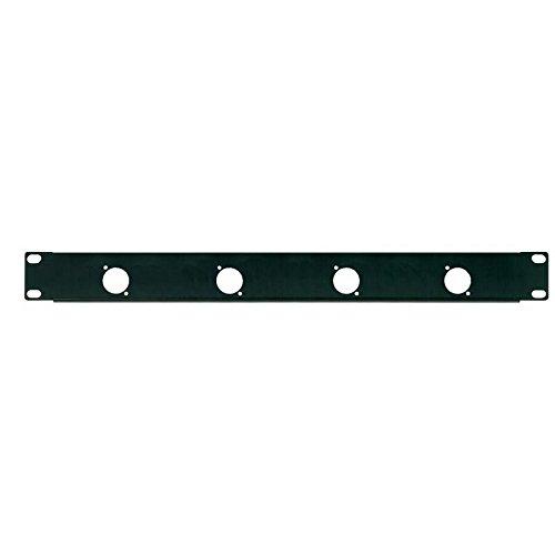 'Deckel perforiert Panel 1U Rack 19mit 4Bohrungen für Stecker XLR/Speakon (TM) (24mm