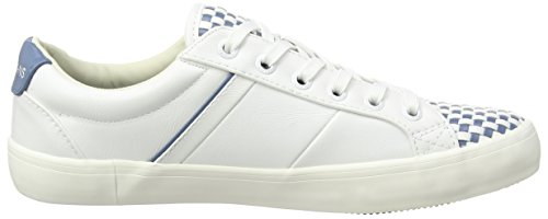 Pepe Jeans Clinton Mixed, Baskets Basses femme Blanc - Weiß (800WHITE)