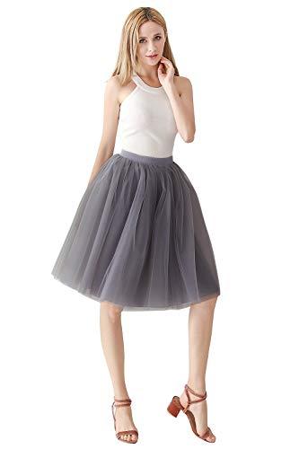 MisShow 1950 Petticoat Unterrock Underskirt Crinoline für Rockabilly Kleid Grau