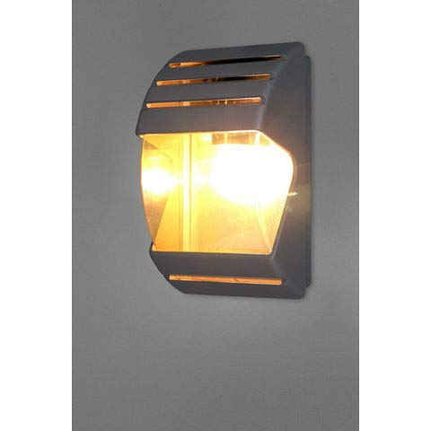 Moderne Außenwandleuchte in anthrazit Aluminium E27 max. 60 Watt Wandlampe Außenleuchte Wandleuchte Gartenleuchte