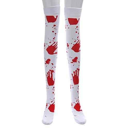 me Halloween Stocking Dekoration für Party Horror Favors (White) ()