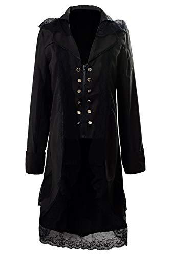 Icewalker Mujer Abrigo Steampunk Esmoquin Chaqueta de Sastre de La Vendimia Corset Victoriano Gotico...