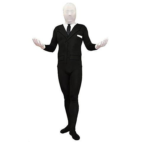 Slenderman Adult Spandex Costume-Adult Medium (Internet Meme Kostüm)