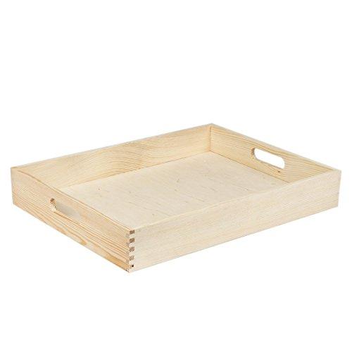 Plateau de service de cuisine en bois bouleau finlandais 30 x 40 cm plat repas