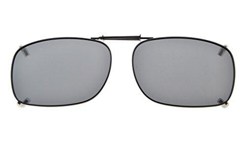 Eyekepper Metallrahmen Felge polarisierte Linse Clip auf Sonnenbrille 51x36MM Grau Linse