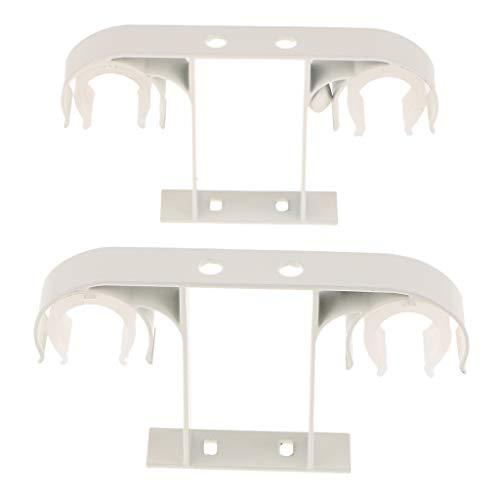 Fenteer 2pcs 25-30mm Gardinenstange Vorhangstange Halter Deckenhalterung Deckenhalter Set