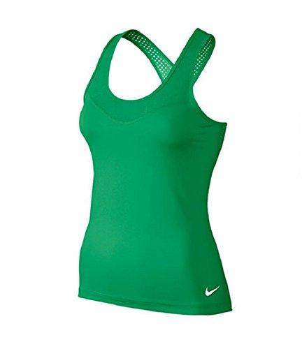 Nike Pro Hypercool Débardeur pour femme verde / blanco (spring leaf / white)