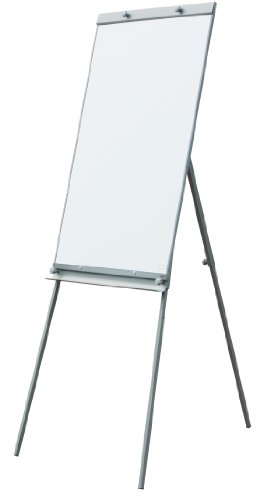 Flipchart Whiteboard 65 x 100 cm Dreibein-Gestell höhenverstellbar inkl. 12 Magnete