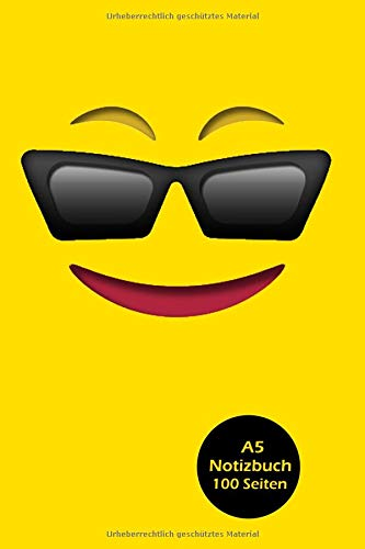 Notizbuch: Emoticon Emoji Smiley - Notizbuch Journal für Kinder und Jugendliche (A5 | liniertes Paper | Soft Cover | 100 Seiten)