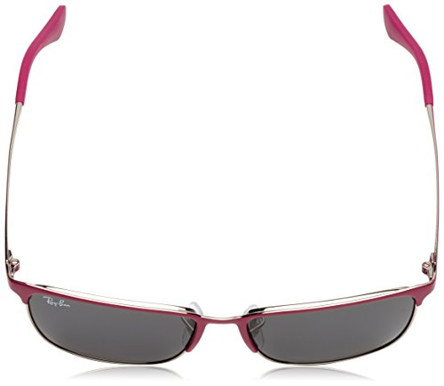 Ray-Ban Junior - Lunette de soleil RB9535S Enfant Top matte fuxia on silver/Dark grey