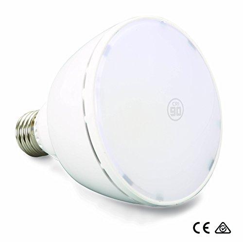 Lampe Birne 750079 | 9.5W | CRI ≥ 90 RA für natürliche Farben | neutral-weiß 4000°K | 750 Lumen Fluter | dimmbar | 90° < Winkel | ersetzt 50W - 60W Leuchtmittel PAR 30 Reflektor Strahler 95mm ⌀ | Universal E27 Sockel Fassung | ()