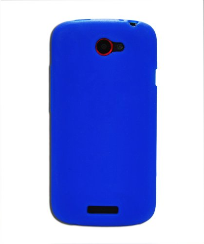Luxburg In-Colour Design custodia cover per HTC One S, colore blu, in silicone TPU