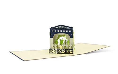Diese-Klappkarten 3D Architektur Kreative Theater 3D Pop-Up Karte | Einladung | Geburtstag | Gutscheinkarte | Grußkarte mit Umschlag A02