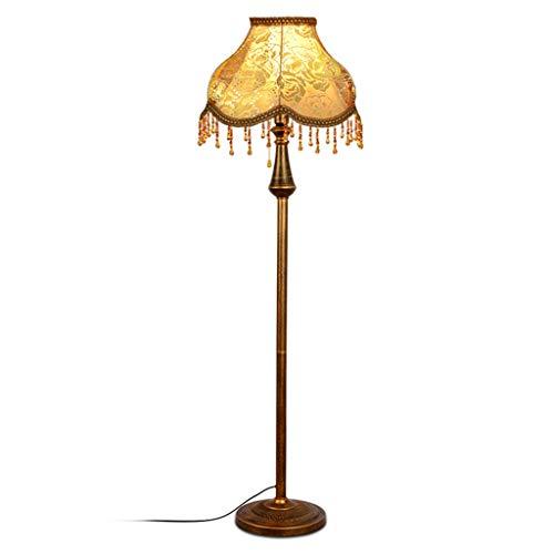 WPCBAA Lámpara de pie E27, lámpara de cabecera Vertical de Superficie de Cobre Rojo Cepillado, lámpara de Lectura de Oficina Casual