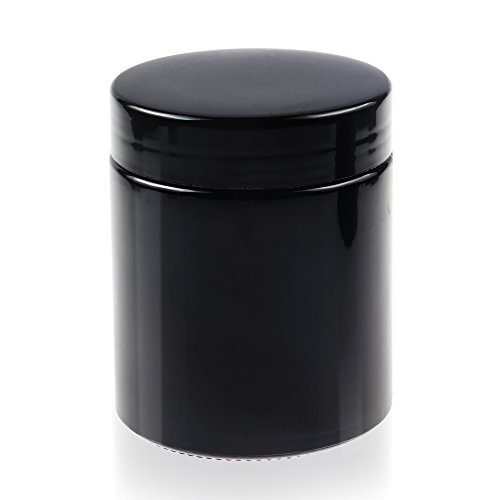 REANICE Pipe Kräuter Glas Apothekerglas Laborglas Medizinglas Vorratsglas Weithals Glas 280 ml Sperrung von ultravioletten Strahlen Schraubverschluss mit Dichteinlage Glasdose (Spice Jar-schleifer)